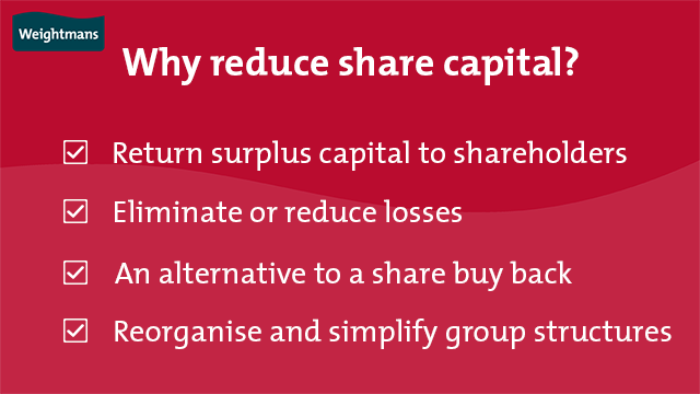 The four key incentives to reduce share capital