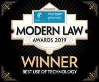 Winner of the Best use of Technology Award at the Modern Law Awards 2019